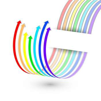 Vector arrows from the rainbow stripes - vector gratuit #130221