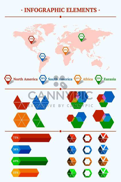 vector set of infographic elements - Free vector #130261