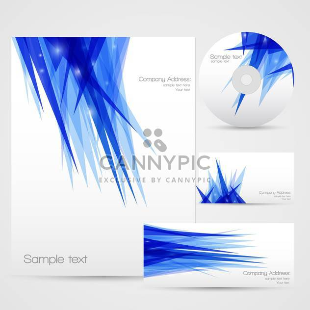 corporate identity background set - Free vector #130271