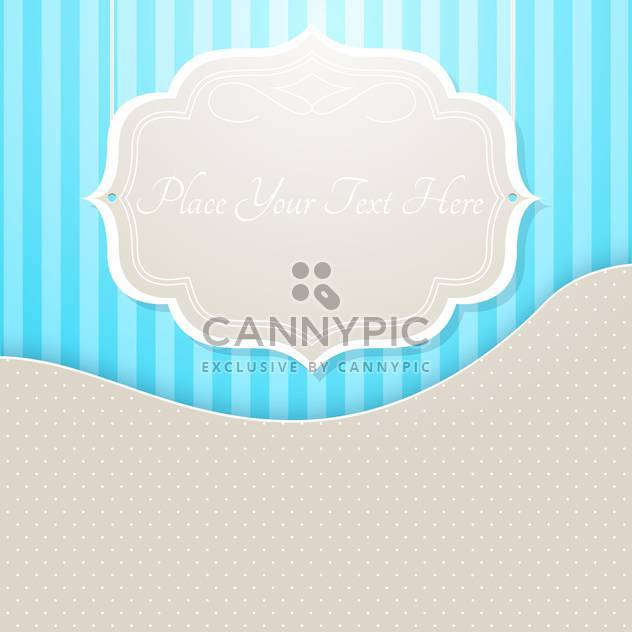 vector vintage frame with place for text - Free vector #130281