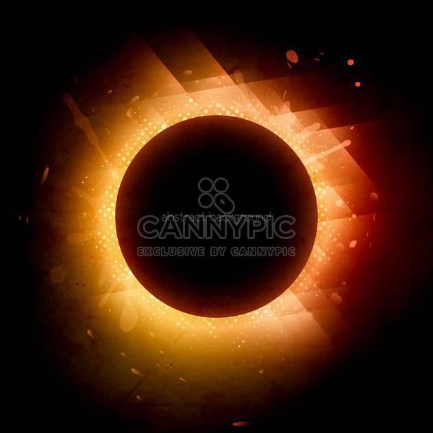 Sonnenfinsternis-Design-Hintergrund - Free vector #130291