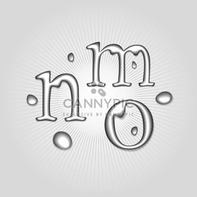 Vektor Wasser Buchstaben M, N, O - Free vector #130361