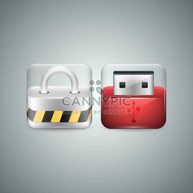 flash drive vector icons - Free vector #130431