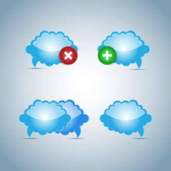 Vector weather clouds icon - бесплатный vector #130461