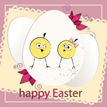 happy easter holiday card background - vector gratuit #130481