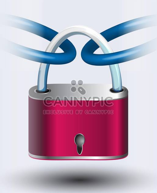 pink padlock vector illustration - Free vector #130501