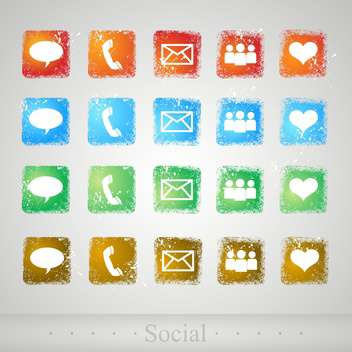 set of web vector buttons - Free vector #130511