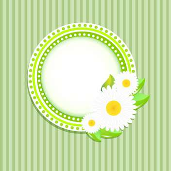 Greeting card with flowers and text place - vector #130561 gratis
