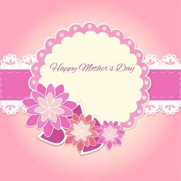 Happy mother day background - vector gratuit #130571