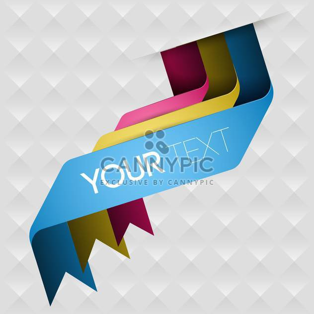 vector background with colored ribbons - Free vector #130581