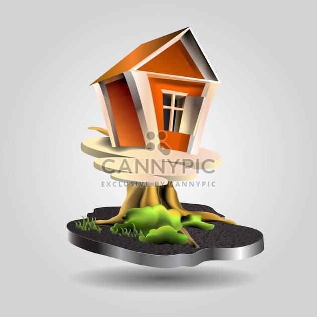 Vektor-Illustration von kleinen Baum-Haus - Free vector #130671