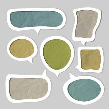 Speech bubbles set with text place - Kostenloses vector #130781