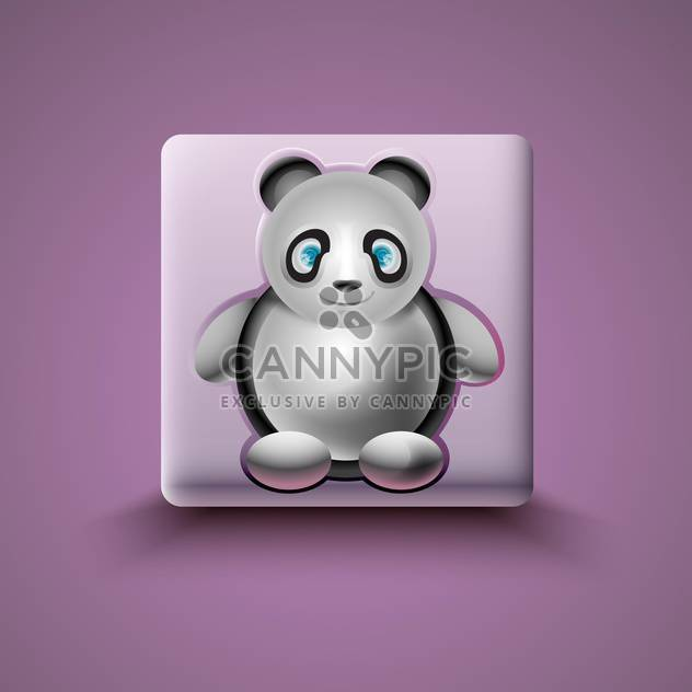 Panda-Symbol auf Lila Hintergrund - Free vector #130811