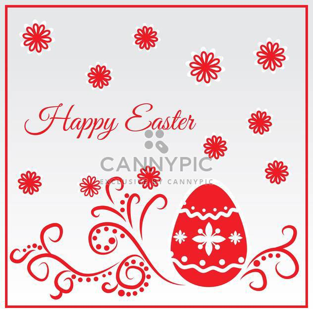 Happy easter greeting card vector illustration - Free vector #130871