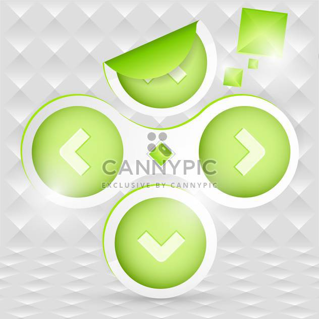 Vetor green arrows on abstract background - Free vector #130891