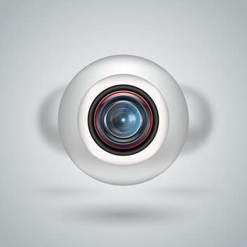 Realistic white webcam on white background - vector #130901 gratis