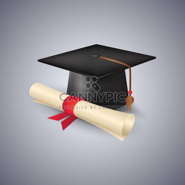 Abschluss-GAP und Diplom-Vektor-illustration - Kostenloses vector #130971