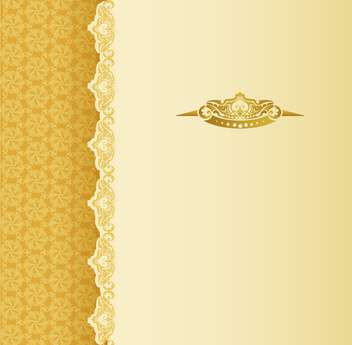 Stylish vintage background with golden ornament and pattern - Free vector #130991