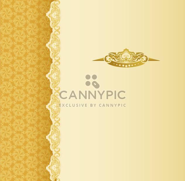 Stilvolle Jahrgang Hintergrund mit goldenen Ornament und Muster - Kostenloses vector #130991