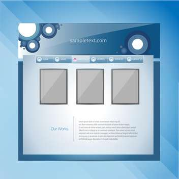 Web site design template vector illustration - бесплатный vector #131081