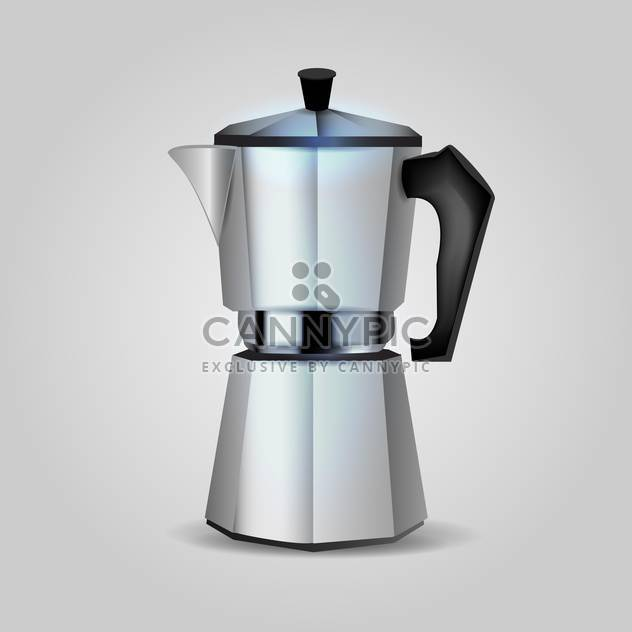 Vector cofee maker illustration on grey background - Free vector #131091