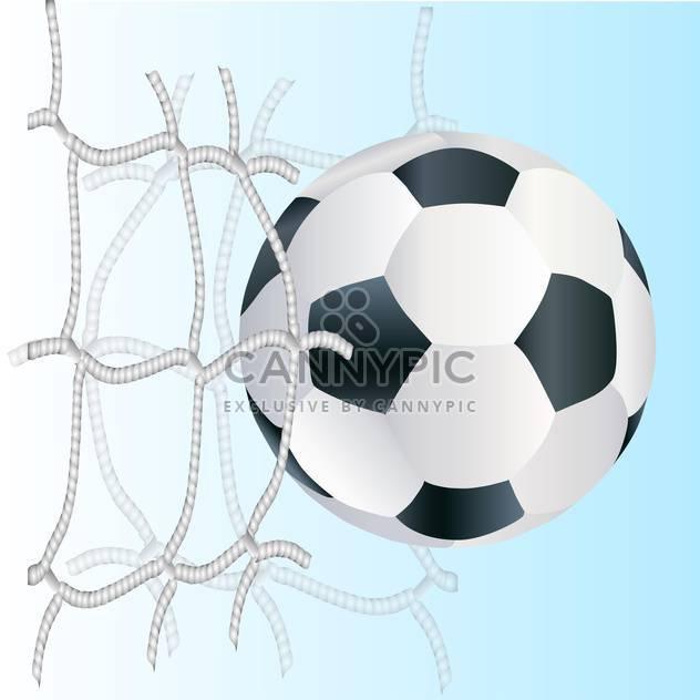Vektor-Fußball-Ball in das Tornetz - Kostenloses vector #131131