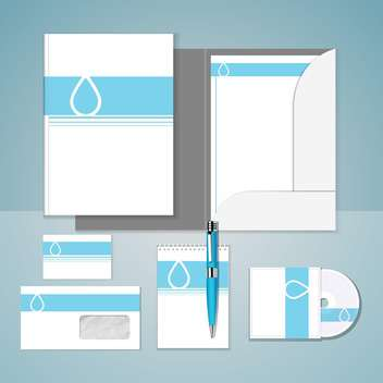 Set of templates for corporate identity - vector gratuit #131141