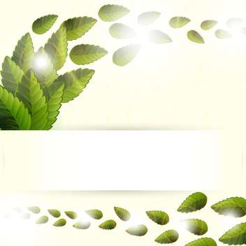 Green leaves texture vector illustration - бесплатный vector #131191