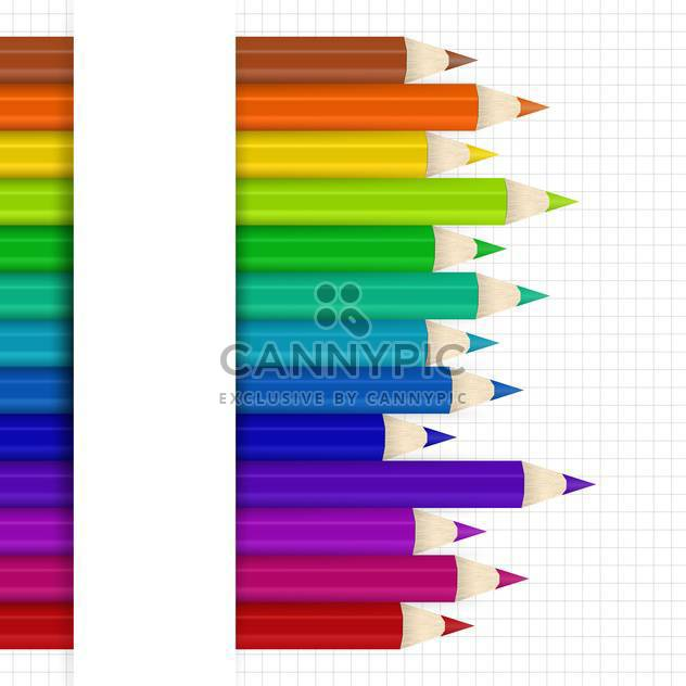 Vector background with colored pencils - Free vector #131231