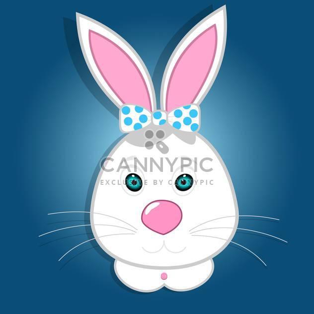 Süße lustige Hase-Vektor-illustration - Free vector #131251