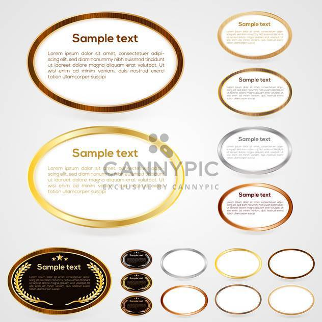 Set of oval-shaped web buttons vector illustration - Free vector #131281