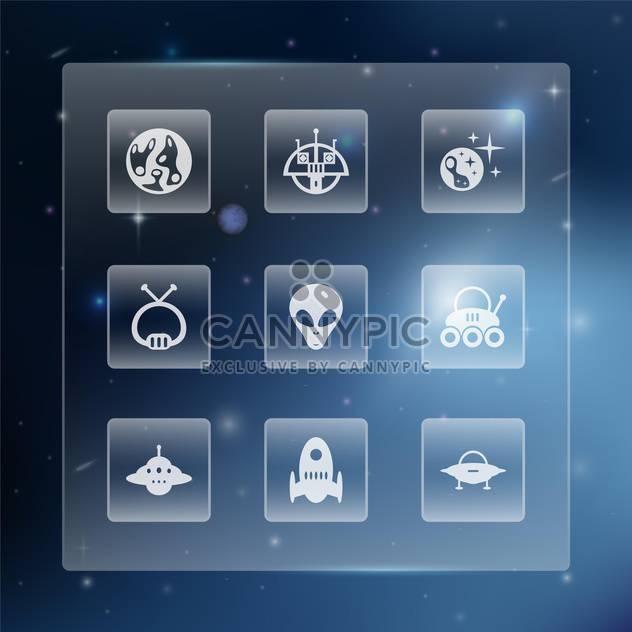 Raum-Web-Schaltflächen legen Sie Vektor-illustration - Free vector #131321
