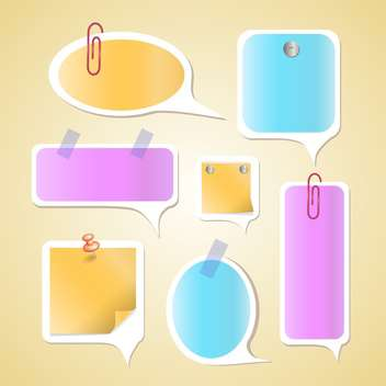 Paper text bubbles vector set - Free vector #131341