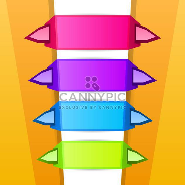 Arrow stickers vector set on white background - Free vector #131371