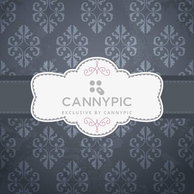 Vintage frame template with space for text - Free vector #131381