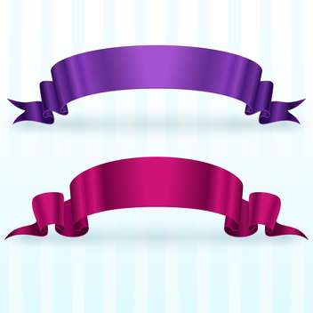 Vector set of banners with ribbon - vector gratuit #131411