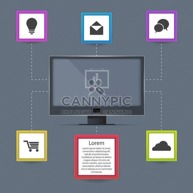 Vector communication icons on grey background - Free vector #131441