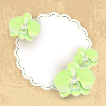 Vector illustration with floral frame - Kostenloses vector #131561
