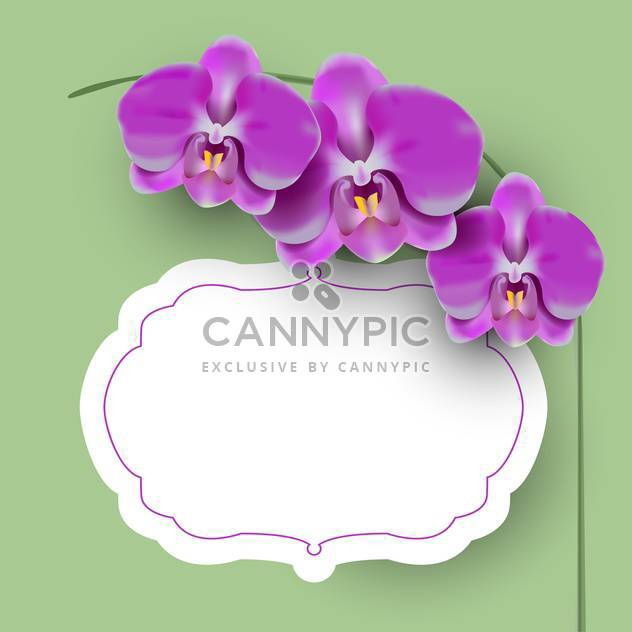 Vector illustration with floral frame - Free vector #131571