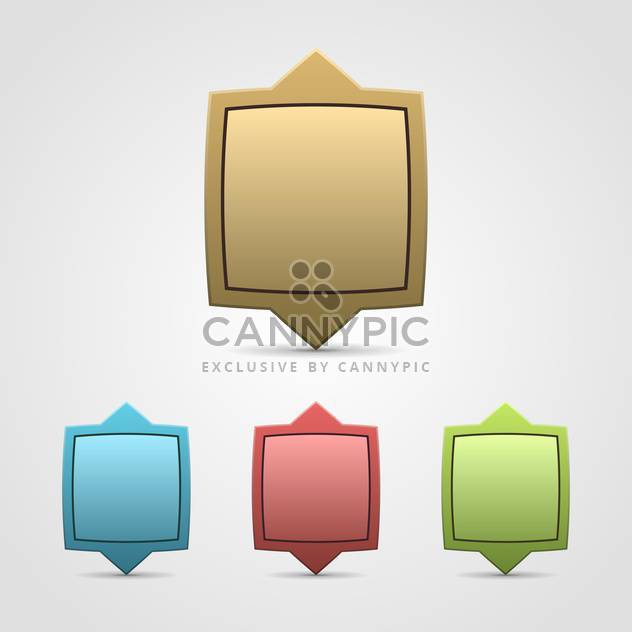 Labels set vector illustration - Free vector #131621