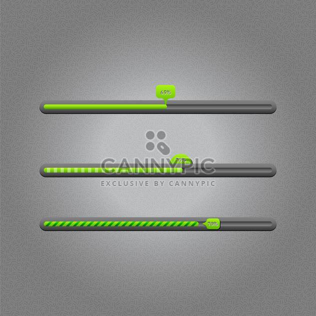 Vector loading bars on grey background - Free vector #131641