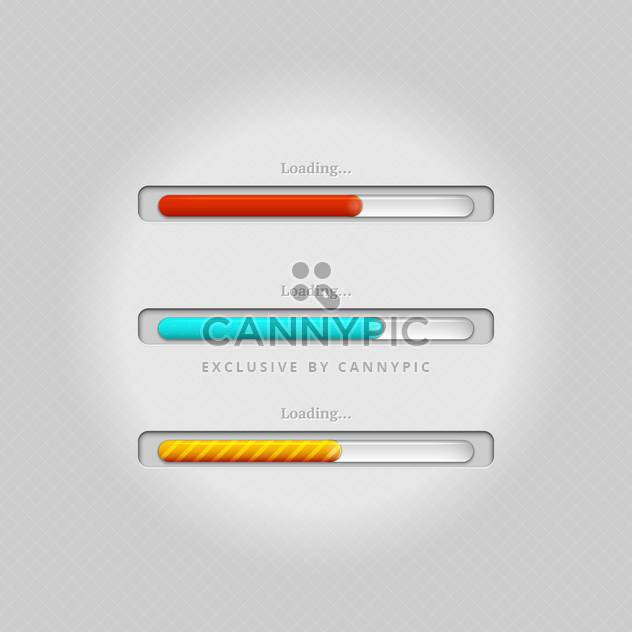 Vector colorful loading bars on grey background - Free vector #131671
