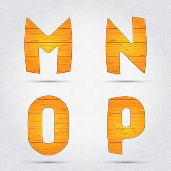 Wooden vector font on white background - Free vector #131681