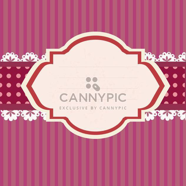 Empty retro tag on pink striped background - Free vector #131741