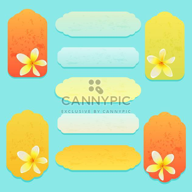 Set of greeting cards with flowers vector - Free vector #131761