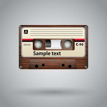 Audio cassette on grey background vector illustration - Kostenloses vector #131781