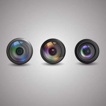 Vector set of photo camera icons - Free vector #131801