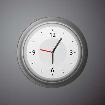 Wall mechanical clock vector illustration - Free vector #131841