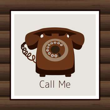 Card with vintage phone vector illustration - Kostenloses vector #131871
