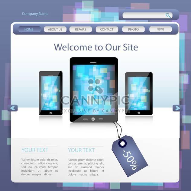 Entwurfsvorlage für Vektor-Webseite - Kostenloses vector #132051